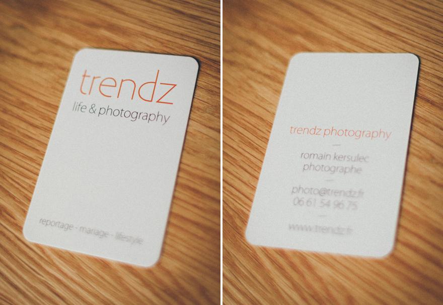 Populaire Nouvelles cartes de visite - Trendz Photography - Photographe  WA87