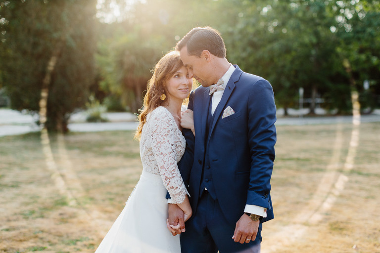 photo de couple mariage golden hour
