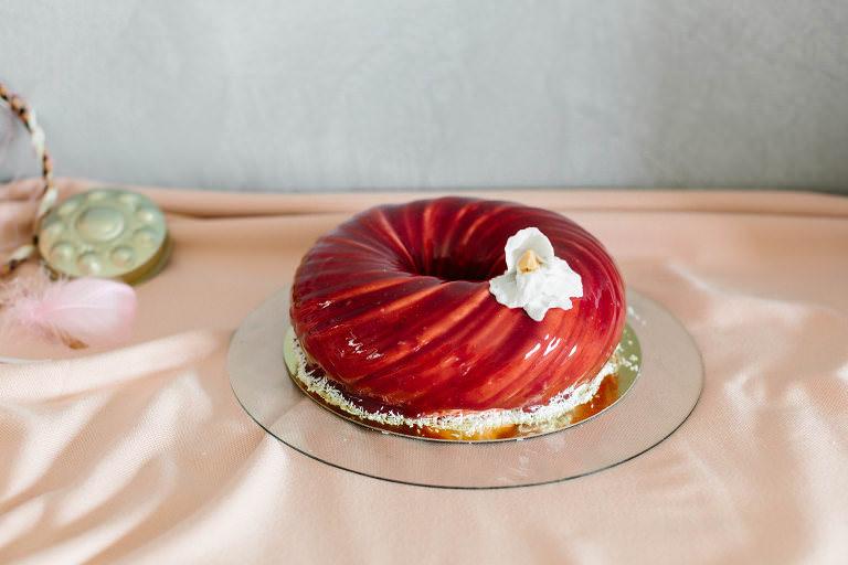 atelier d'angevine - patisserie évènementielle - Gâteau entremet fuits rouge